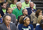Apr. 6, 2014; Rev. John Jenkins, C.S.C., president of the University of Notre Dame, watches the Fighting Irish women's basketball team play against the Maryland Terrapins in the semifinals of the NCAA Final Four tournament at the Bridgestone Arena in Nashville, Tenn. Notre Dame defeated Maryland 87 to 61. Photo by Barbara Johnston/University of Notre Dame