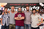 24.07.2012. Presentation at the Madrid Film Academy of the movie 'Impavido´, directed by Carlos Theron and starring by Marta Torne, Selu Nieto, Nacho Vidal, Carolina Bona, Julian Villagran and Manolo Solo. In the image Selu Nieto, Nacho Vidal, Carlos Theron, Julian Villagran and Manolo Solo (Alterphotos/Marta Gonzalez)