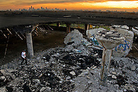 The Packard Automotive Plant in Detroit, Michigan, was once the most modern car manufactoring plant in the world, when it opened in 1907. It is now in the process of being torn down.