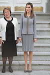 Queen Letizia of Spain during Chile´s President Michelle Bachelet Jeria reception at Zarzuela Palace in Madrid, Spain. October 29, 2014. (ALTERPHOTOS/Victor Blanco)