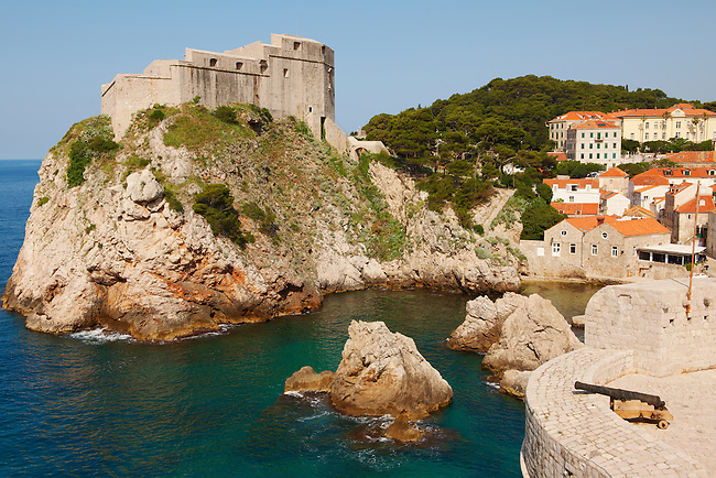 Stock photos of views of The Fortress of Lovijenac - Dubrovnik - Croatia