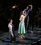 """Tony Yazbeck, Laura Osnes, Mark Linn-Baker and Jerry O'Connell during the Manhattan Concert Productions 25th Anniversary concert performance of """"Crazy for You"""" at David Geffen Hall, Lincoln Center on February 19, 2017 in New York City."""