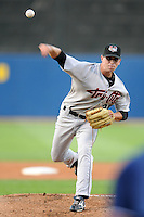 August 14, 2008:  Pitcher Brandt Walker of the Tri-City Valley Cats delivers a pitch during a game at Richmond County Bank Ballpark in Staten Island, NY.  Tri-City is the Short-Season Class-A affiliate of the Houston Astros.  Photo By David M. Schofield/Four Seam Images