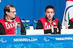 Sochi, RUSSIA - Mar 5 2014 -  Ozzie Sawicki and Martin Richard at Canada's flag bearer announcement prior to the Sochi 2014 Paralympic Winter Games in Sochi, Russia.  (Photo: Matthew Murnaghan/Canadian Paralympic Committee)