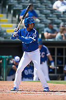 Jair Jurrjens (15) of the Oklahoma City Dodgers at bat during a game against the Iowa Cubs at Chickasaw Bricktown Ballpark on April 9, 2016 in Oklahoma City, Oklahoma.  Oklahoma City defeated Iowa 12-1 (William Purnell/Four Seam Images)