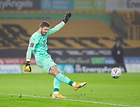 8th January 2021; Molineux Stadium, Wolverhampton, West Midlands, England; English FA Cup Football, Wolverhampton Wanderers versus Crystal Palace; Crystal Palace Goalkeeper Jack Butland takes a long goal kick