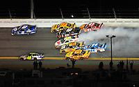 Feb 07, 2009; Daytona Beach, FL, USA; NASCAR Sprint Cup Series driver Greg Biffle (16) spins in the middle of the field during the Bud Shootout at Daytona International Speedway. Mandatory Credit: Mark J. Rebilas-