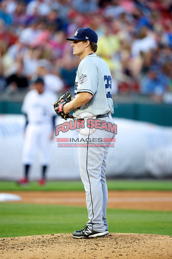 New Orleans Zephyrs pitcher Tom Koehler #22 during the Triple-A All-Star game featuring the Pacific Coast League and International League top players at Coca-Cola Field on July 11, 2012 in Buffalo, New York.  PCL defeated the IL 3-0.  (Mike Janes/Four Seam Images)