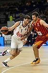 Real Madrid´s Rudy Fernandez and Galatasaray´s Micov during 2014-15 Euroleague Basketball match between Real Madrid and Galatasaray at Palacio de los Deportes stadium in Madrid, Spain. January 08, 2015. (ALTERPHOTOS/Luis Fernandez)
