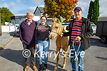 At the Castlemaine Fair in memory of the late John O'Donoghue and as a fundraiser for the Kerry Hospice on Sunday l to r: Christina and Jim Sugrue (Blennerville) and Colm McCarthy (Firies) with Cheap the horse.