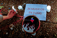 Vigil in honor of the people killed during national strike in Colombia