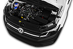 Car Stock 2016 Volkswagen Caddy Maxi Van - 5 Door Car Van Engine  high angle detail view