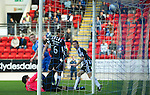 St Johnstone v St Mirren...11.09.10  .Andy Jackson puts the ball in the back of the net to give saints a 1-0 lead.Picture by Graeme Hart..Copyright Perthshire Picture Agency.Tel: 01738 623350  Mobile: 07990 594431
