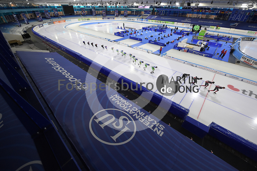 SCHAATSEN: HEERENVEEN: 13-01-2021, IJsstadion Thialf, Speed Skating training, Team Canada, Ice Rink, ©Photo Martin de Jong