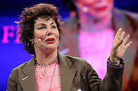 Pictured: Ruby Wax talking about her book Frazzled Monday 30 May 2016<br />Re: Hay Festival, Hay on Wye, Wales, UK