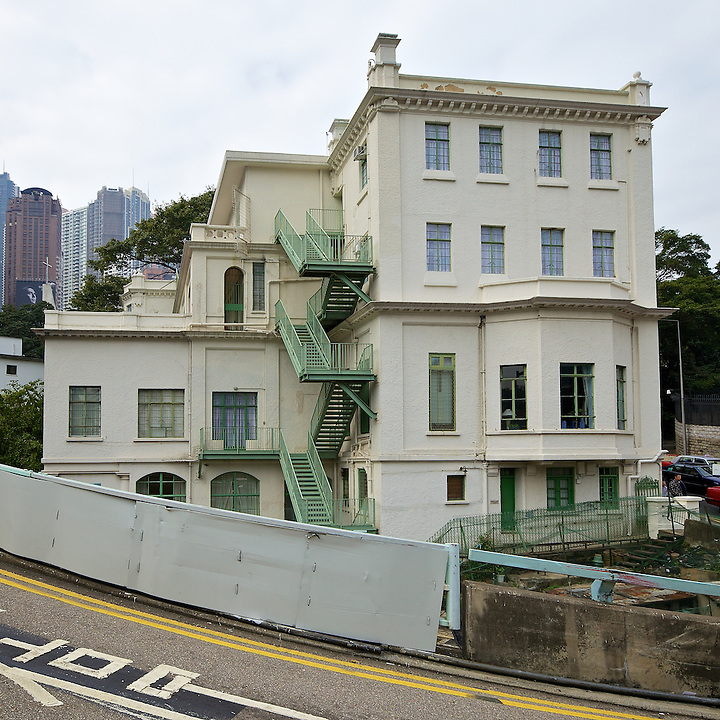 The Helena May Building, Garden Road, Central.  It was established in 1916 by the then Governor's wife, Helena May, to provide accommodation for single working women passing through or staying for a short time in Hong Kong and to organise educational and social activities for its members.