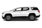Car Driver side profile view of a 2020 GMC Acadia SLE 5 Door SUV Side View