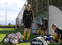 20190228 - LARNACA , CYPRUS : Belgian Marie Minnaert pictured during a Matchday -1 training from The Belgian Red Flames prior to their game against the women team of Austria , on Thursday 28 February 2019 at the Alpha Sports Grounds in Larnaca , Cyprus . This will be the second game in group C for Belgium during the Cyprus Womens Cup 2019 , a prestigious women soccer tournament as a preparation on the European Championship 2021 qualification duels. PHOTO SPORTPIX.BE | DAVID CATRY