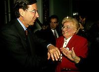 Montreal (QC)CANADA - File Photo - circa 1992<br /> Quebec Premier and<br /> Liberal Provincial Leader Robert Bourassa