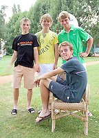 7-8-09, Asten,NJK,  vlnr Alban Meuffels, Colin van Beem, Kevin Boelhouwer, zittend Kevin Griekspoor