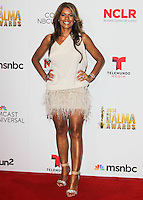 PASADENA, CA, USA - OCTOBER 10: Lisa Vidal poses in the press room at the 2014 NCLR ALMA Awards held at the Pasadena Civic Auditorium on October 10, 2014 in Pasadena, California, United States. (Photo by Celebrity Monitor)