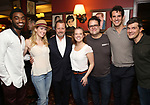 Jelani Alladin, Caissie Levy, Rob Ashford, Patti Murin, Greg Hildreth, John Riddle and Stephen Oremus during the Rob Ashford portrait unveiling for the Sardi's Wall of Fame on October 10, 2018 at Sardi's Restaurant in New York City.