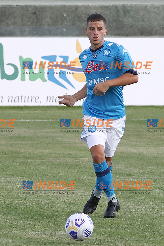 Diego Demme of SSC Napoli in action during the friendly football match between SSC Napoli and Castel di Sangro Cep 1953 at stadio Patini in Castel di Sangro, Italy, August 28, 2020. <br /> Photo Cesare Purini / Insidefoto