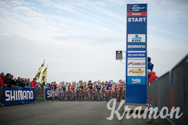 startline<br /> <br /> Koksijde CX World Cup 2014