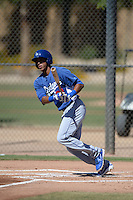 Los Angeles Dodgers outfielder Alex Santana (21) during an Instructional League game against the Chicago White Sox on October 8, 2013 at Camelback Ranch Complex in Glendale, Arizona.  (Mike Janes/Four Seam Images)