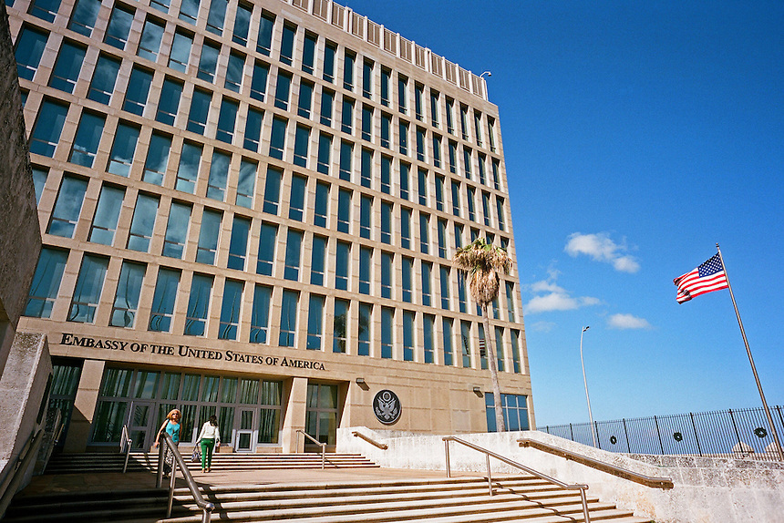 The recently reopened United States Embassy in Havana, Cuba. MARK TAYLOR GALLERY