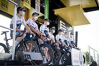 Team Israel Start-Up Nation at the morning team presentation<br /> <br /> Stage 19 from Mourenx to Libourne (207km)<br /> 108th Tour de France 2021 (2.UWT)<br /> <br /> ©kramon