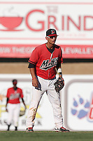 Tim Lopes #3 of the High Desert Mavericks during a game against the Modesto Nuts at Heritage Field on June 29, 2014 in Adelanto, California. High Desert defeated Modesto, 6-1. (Larry Goren/Four Seam Images)
