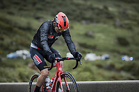 Jasper De Buyst (BEL/Lotto Soudal) struggling hard up the Cormet de Roselend only minutes before abandoing the Tour. <br /> <br /> Stage 9 from Cluses to Tignes (144.9km)<br /> 108th Tour de France 2021 (2.UWT)<br /> <br /> ©kramon