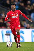 Daniel Sturridge of Liverpool during the Capital One Cup match between Liverpool and Manchester City at Wembley Stadium, London, England on 28 February 2016. Photo by David Horn / PRiME Media Images.
