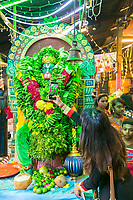 Woman Photographing Hanuman Deity, Sree Veera Hanuman Hindu Temple, Kuala Lumpur, Malaysia.