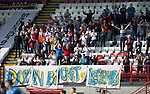 Hamilton Academical St Johnstone....04.04.15<br /> Saints fans applaud in memory of Darren Bicket<br /> Picture by Graeme Hart.<br /> Copyright Perthshire Picture Agency<br /> Tel: 01738 623350  Mobile: 07990 594431