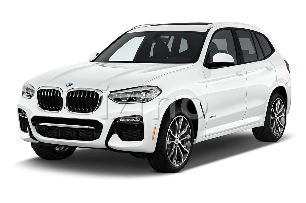 2019 BMW X3 M Sport 5 Door SUV angular front stock photos of front three quarter view