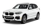 2019 BMW X3 M Sport 5 Door SUV angular front stock photos of front three quarter view