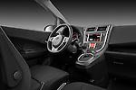 Passenger side dashboard view of a 2011 Subaru Trezia Comfort 5 Door Hatchback .