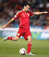Spain's Sergio Busquets during 15th UEFA European Championship Qualifying Round match. November 15,2014.(ALTERPHOTOS/Acero) /NortePhoto nortephoto@gmail.com