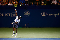 Andy Murray in action against Frances Tiafoe on stadium court at the Winston-Salem Open on Tuesday August 24, 2021 in Winston-Salem, North Carolina. (Photo by Jared Wickerham/Winston-Salem Open)