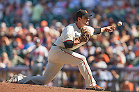 San Francisco, California - Wednesday, May 14, 2014: The San Francisco Giants beat the Atlanta Braves 10-4 during a Major League Baseball (MLB) game at AT&T Park.