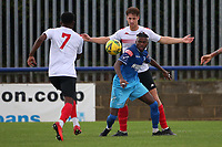 Suleiman Bakalandwa of Wingate & Finchley and Bouwe Bosma of Lewes during Wingate & Finchley vs Lewes, Pitching In Isthmian League Premier Division Football at the Maurice Rebak Stadium on 3rd October 2020