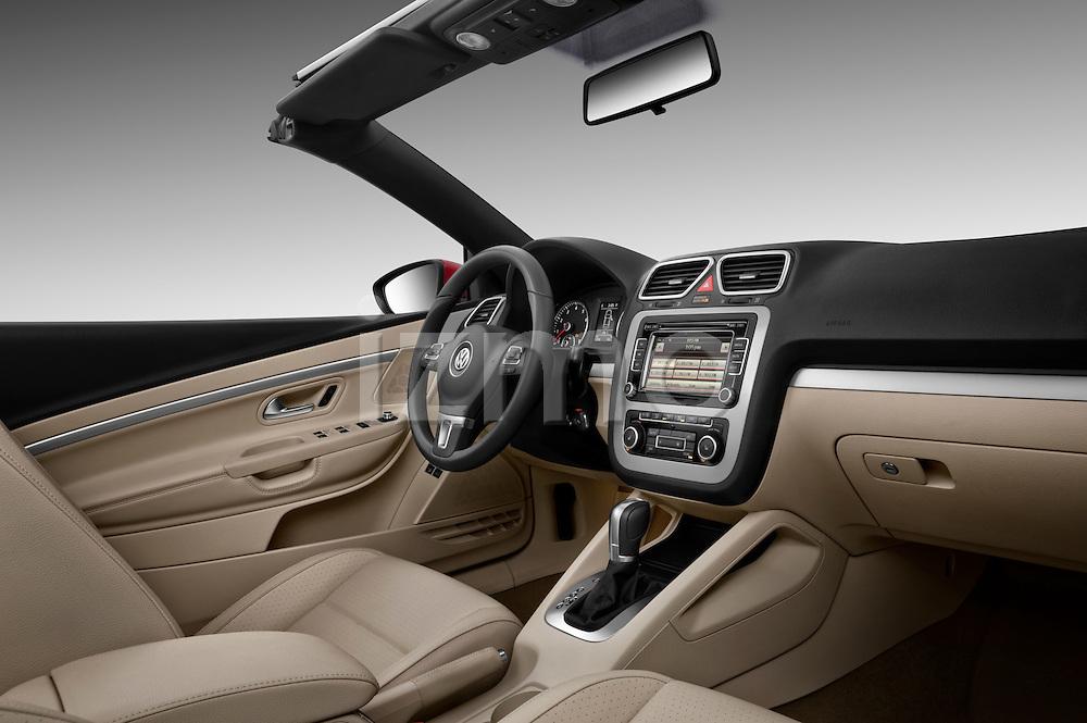 Passenger side dashboard view of a 2012 Volkswagen EOS Komfort .