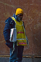 Homeless people as seen on the streets of Chicago, Illinois.
