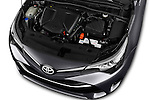 Car Stock 2015 Toyota Avensis Active 4 Door Sedan Engine  high angle detail view