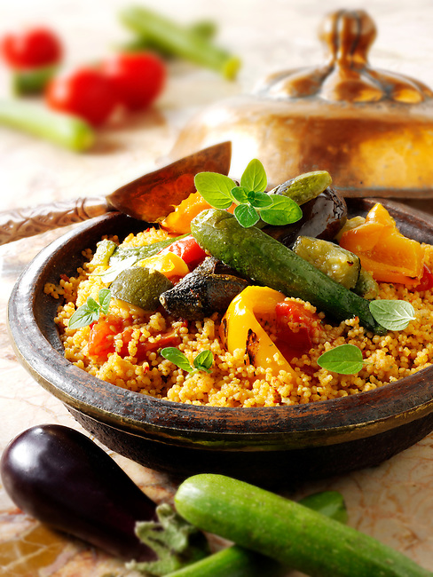 Couscous with Mediterranean roast vegetables