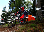 Luca Shaw (USA)Downhill training sesion, UCI, Moutain Bike World Cup , Vallnord Andorra. 12/07/2018