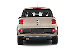 Straight rear view of a 2014 Fiat 500L Trekking 5 Door Hatchback Rear View  stock images