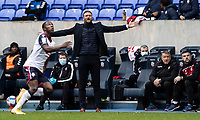Bolton Wanderers' head coach Ian Evatt spreads his arms out in despair<br /> <br /> Photographer Andrew Kearns/CameraSport<br /> <br /> The EFL Sky Bet League Two - Bolton Wanderers v Oldham Athletic - Saturday 17th October 2020 - University of Bolton Stadium - Bolton<br /> <br /> World Copyright © 2020 CameraSport. All rights reserved. 43 Linden Ave. Countesthorpe. Leicester. England. LE8 5PG - Tel: +44 (0) 116 277 4147 - admin@camerasport.com - www.camerasport.com